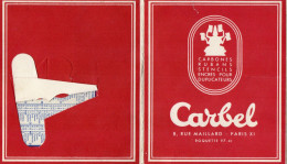CALENDRIER DE BUREAU 1960 CARBEL *Carbones *Rubans *Stencils *Encres Pour Duplicateurs - Calendriers