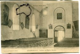 - COURBESSEAUX - Guerre De 1914-1915, Intérieur De L'Eglise, Entrée, Carte Fine, BE, Scans. - France