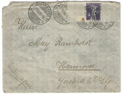 SVIZZERA - SUISSE - HELVETIA - 1910 - 3 + 2 Stamps Missed - Viaggiata Da Lausanne Per Hannover, Germany - Covers & Documents