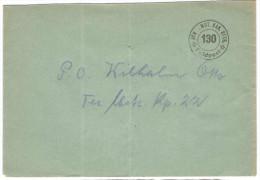SVIZZERA - SUISSE - HELVETIA - 1939 - SCH.MOT.KAN.BTTR.130 - Feldpost - Viaggiata Da 130 A 22 - Posta Militare