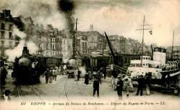 Belle  Carte     -  Dieppe -  Arrivée Du Bateau De Newhaven  ,Départ Du Rapide De   ,animée                       AH1108 - Dieppe