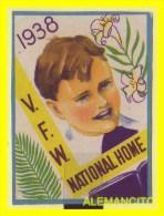 VIÑETA Estados Unidos Viñeta VFW National Home Año 1938 - América Central