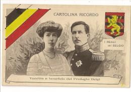 S4337 - Cartolina Ricordo I Reali Del Belgio (Le Roi Albert 1er Et La Reine Elisabeth) - Familles Royales