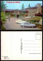 PORTUGAL COR 47522 - SERRA GERÊS - VIEIRA DO MINHO - POUSADA - OLD CARS AUTOMOBILES VOITURES OPEL KADETT RENAULT 18 VW - Braga