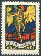 Russia Russland Russie Livland Latvia RIGA 1901 Jubilee Exhibition Exposition Ausstellung Vignette Poster Cinderella - Erinofilia