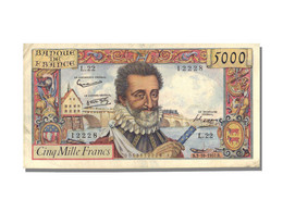 5000 Francs Type Henri IV - 1871-1952 Circulated During XXth