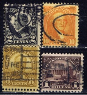 US+ 1922 1923 Mi 260 260C 263 270 283 289 345 Washington, Franklin - Oblitérés