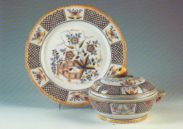 CP FAIENCE De Sarreguemines 57 Vaisselle Porcelaine / Service Montmorency 1870 - Porzellan Postkarte Postcard - Schone Kunsten