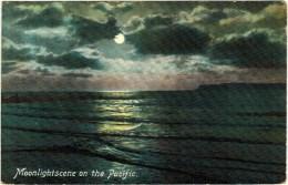 Moonlight Scene On The Pacific 1910 - Postcards