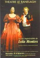 """Carte Postale  """"Cart´Com"""" (1999) - La Vie Imprévisible De Lola Montes - Théâtre Le Ranelagh - Publicité"""