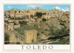 Espagne--TOLEDO--2000-Puente De San Martin Y San Juan De Los Reyes,cpm N°1091 éd Julio De La Cruz---timbre Papillon - Toledo