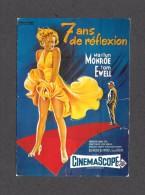 AFFICHE CINÉMA - POSTER - CINEMA - FILM - 7 ANS DE RÉFLECTION - MARILYN MONROE - TOM EWELL - Affiches Sur Carte