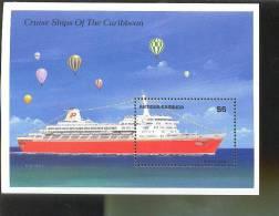 ANTIGUA  & BARBUDA   1196 MINT NEVER HINGED SOUVENIR SHEET OF  CARIBBEAN CRUISE SHIPS - Schiffe