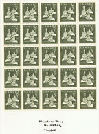 Christmas Issue  Gifts  Miniature  Pane Of 25 Winnipeg Tagged Stamps Unitrade 443pq  MNH ** - Neufs