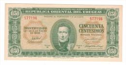 Uruguay, 50 Cent. 1939, UNC!  Free Ship. To USA. - Uruguay