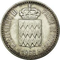 Monnaie, Monaco, Rainier III, 10 Francs, 1966, SUP+, Argent, Gadoury:155 - 1960-2001 Nouveaux Francs