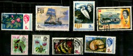 Fidji Scott N°260.261.262.264.221.305.306.426.oblitéré - Fidji (...-1970)