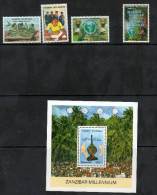 TANZANIA ,2000, MNH, MILLENNIUM, ZANZIBAR, TORTOISES, TURTLES, FISHING,EDUCATION, 4v+S/SHEET - Turtles