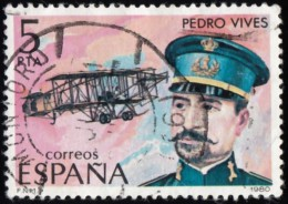 SPAIN - Scott #2225 Pedro Vives, Aviation Pioneer / Used Stamp - 1971-80 Oblitérés
