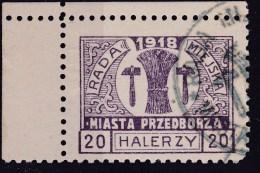 POLAND Przedborz 1918 Fi 14B T.1 Used Signed Petriuk ZL11.5 - ....-1919 Gouvernement Provisoire