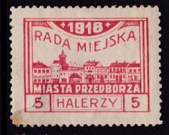 POLAND Przedborz Local 1918 Private Printing - ....-1919 Gouvernement Provisoire
