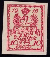 POLAND Warschau Local 1915 Fi 2 Imperf Mint Hinged - ....-1919 Gouvernement Provisoire