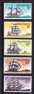 New Zealand 1975 Sailing Ships Complete Set MNH - New Zealand