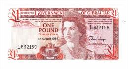 1988 Gibraltar One Pound Banknote - Gibraltar