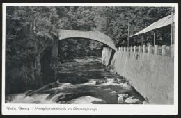 [007] Thale Am Harz, Jungfernbrücke Mit Königsruhe, Gel. 1937, Verlag Mühlstein - Thale