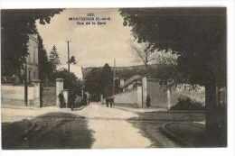 CPA 91 MONTGERON RUE DE LA GARE - Montgeron