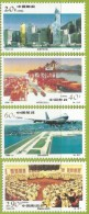 Chine 1996 3452 à 3455 ** Hong Kong Banque De Chine Containers Aéroport Avion Bourse - 1949 - ... République Populaire