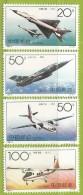 Chine 1996 3387 à 3390 ** Avions Chinois - 1949 - ... République Populaire