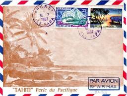 Polynésie - Cad AHUREI ILE RAPA - Juillet 1967 - R 2263 - Brieven En Documenten