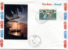 Polynésie - Cad  HAO   ILES TUAMOTU - Janvier 1968 - R 2268 - Brieven En Documenten