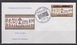 = Motifs De Tapa Enveloppe 1er Jour Mata-Utu 3.2.75 N°59 Poste Aérienne Wallis Et Futuna à 24F - FDC