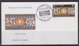 = Motifs De Tapa Enveloppe 1er Jour Mata-Utu 3.2.75 N°61 Poste Aérienne Wallis Et Futuna à 80F - FDC