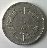 5 Francs LAVRILLIER En Aluminium - 1947 - - France