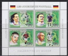 Congo 2006 Football M/s PERFORATED  ** Mnh (26944l) - Democratische Republiek Congo (1997 - ...)