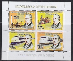 Congo 2006 Stephenson / Railway M/s  PERFORATED ** Mnh (26944M) - Democratische Republiek Congo (1997 - ...)