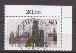 Berlin , 1987 , Mi.Nr. 776 O / Used Eckrand Ersttagsstempel - Berlin (West)
