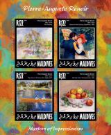 MALDIVES 2014 - P.-A. Renoir, Rowing - YT 4253-6; CV = 16 € - Rowing
