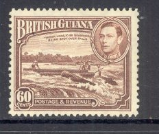 BRITISH GUIANA, 1938 60c (minor Gum Bend) Mint Never Hinged (MNH), Cat £21 - British Guiana (...-1966)