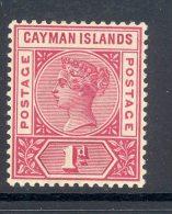 CAYMAN ISLANDS, 1900 1d Rose-carmine Superb Mint Very Lightly Hinged, SG2, Cat £16 - Kaaiman Eilanden