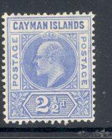CAYMAN ISLANDS, 1905 2½d (wmk CA Multiple) Very Fine Mint Ligthly Hinged, Cat £12 - Kaaiman Eilanden