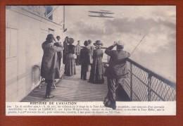1 Cpa HISTOIRE DE L´AVIATION. Le 18.10.1909. Le Comte De Lambert - Aviateurs