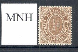 CAYMAN ISLANDS, 1908 ¼d Mint Never Hinged (MNH), Cat £5 - Kaaiman Eilanden