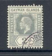 CAYMAN ISLANDS, 1912 2d Very Fine Used, Cat £10 - Kaaiman Eilanden
