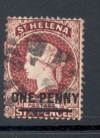 ST HELENA, 1864 1d P14x12½ (wmk Crown CC) Very Fine Used, SG21, Cat £15 - Sint-Helena