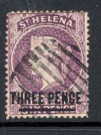 ST HELENA, 1884 3d Reddish Lilac Very Fine Used - Sint-Helena