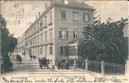 PALERMO - ALBERGO DELLE PALME - F/P - V: PRIMI '900 - CARROZZE - ANIMATA - I - Palermo